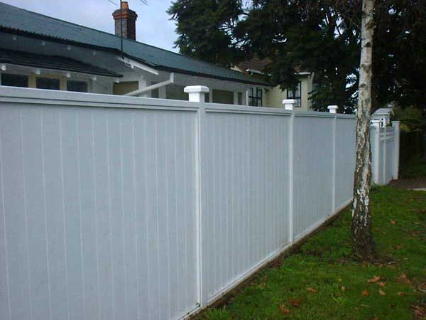 Inset Painted Cap Rails Shiplap Fence Town And Around